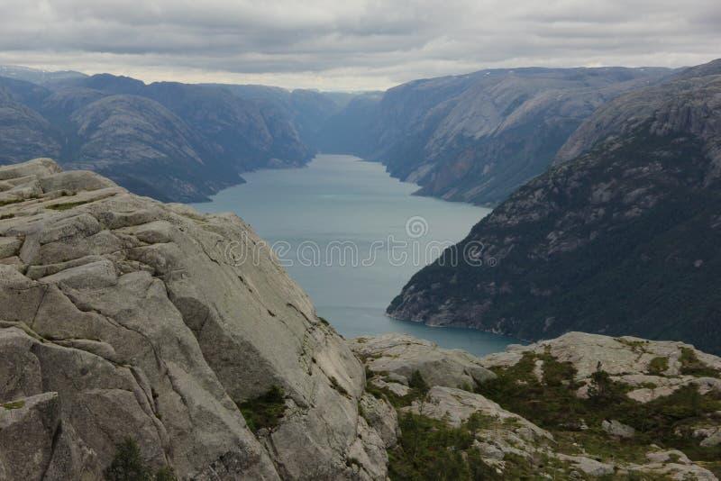 Lysefjord foto de archivo