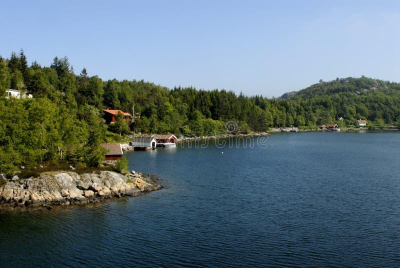 Lysefjord Landschaft lizenzfreie stockfotografie