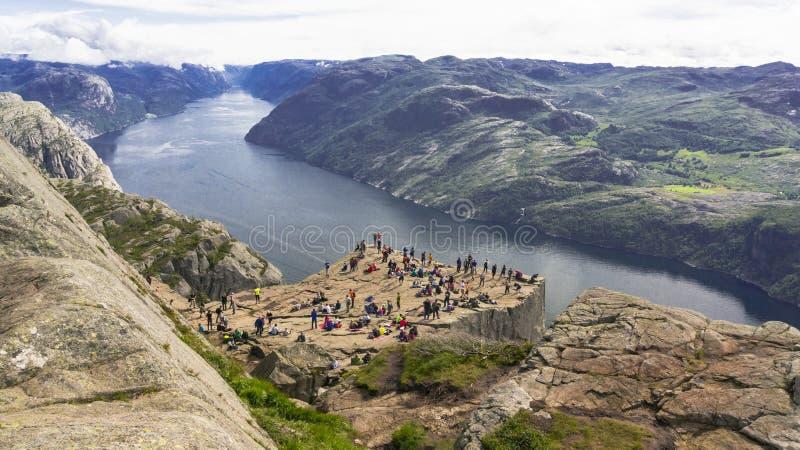Lysefjord, Noorwegen royalty-vrije stock afbeeldingen