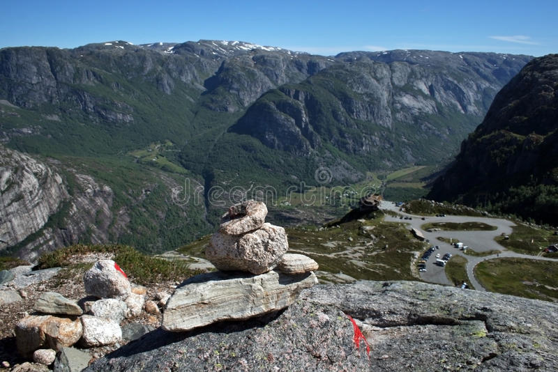 Lysefjord vu de ci-avant image stock