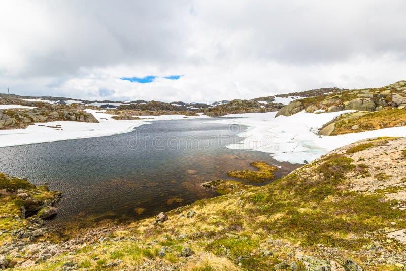 Lysevegen droga Norwegia fotografia stock