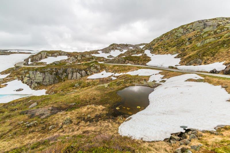 Lysevegen Norwegia zdjęcia stock