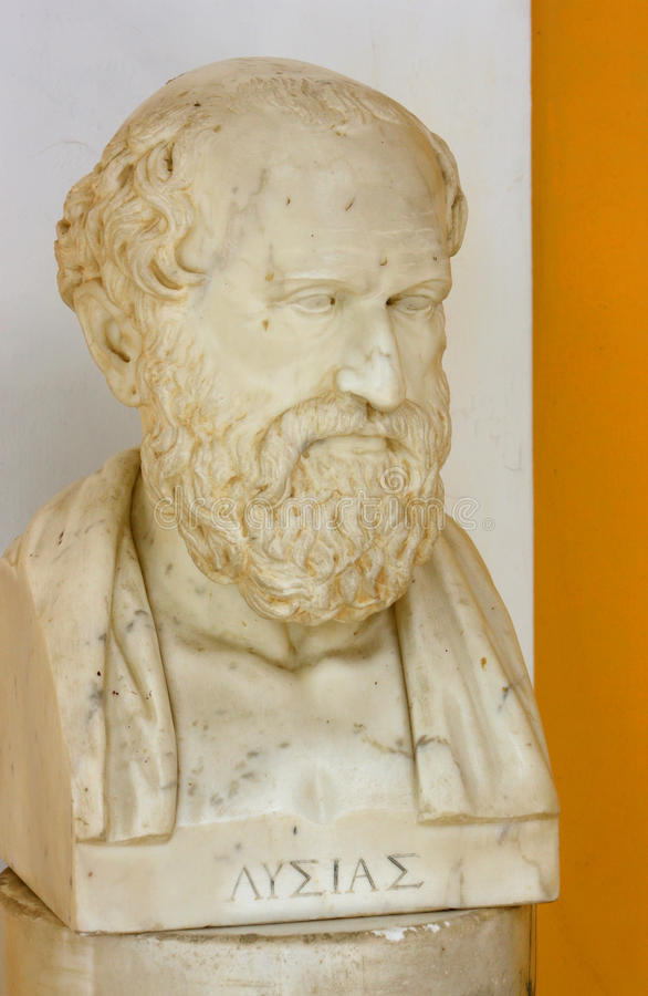 Download Lysias bust editorial stock photo. Image of marble, greek - 19254163