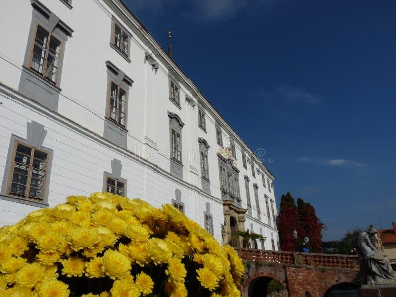 Lysice castle. Lysice baroque castle, south Moravia, Czech Republic stock photo