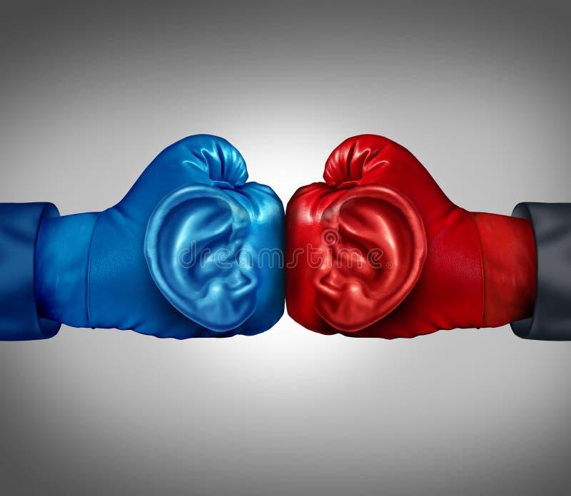 Lyssna till din konkurrens stock illustrationer