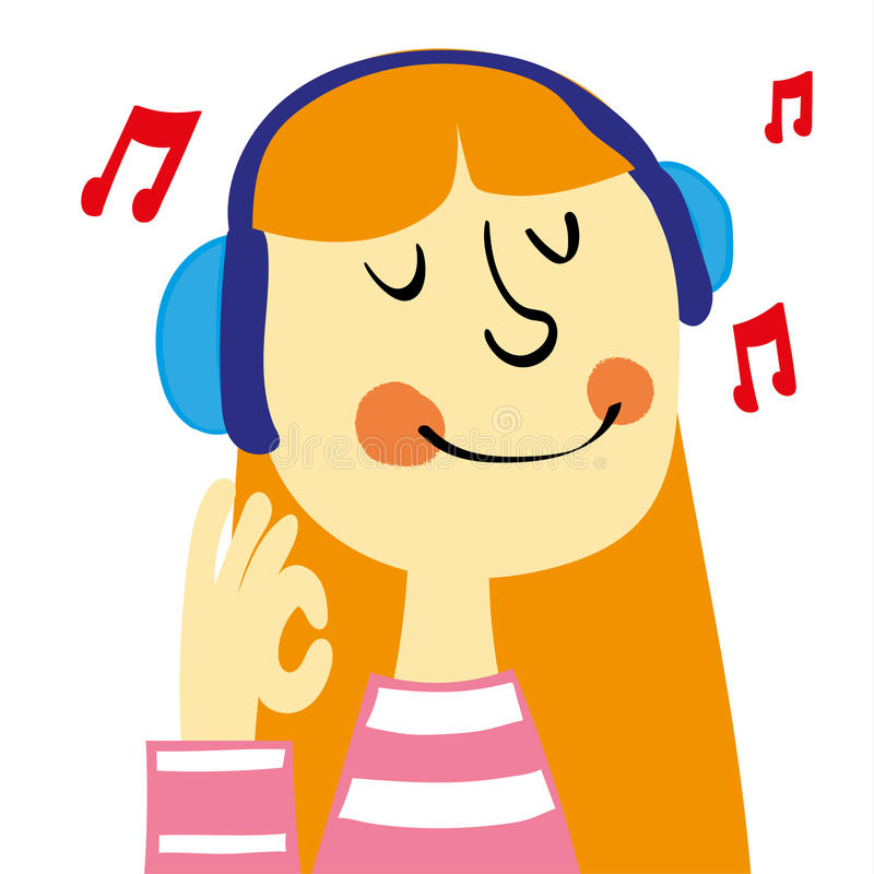 Lyssna till musik vektor illustrationer