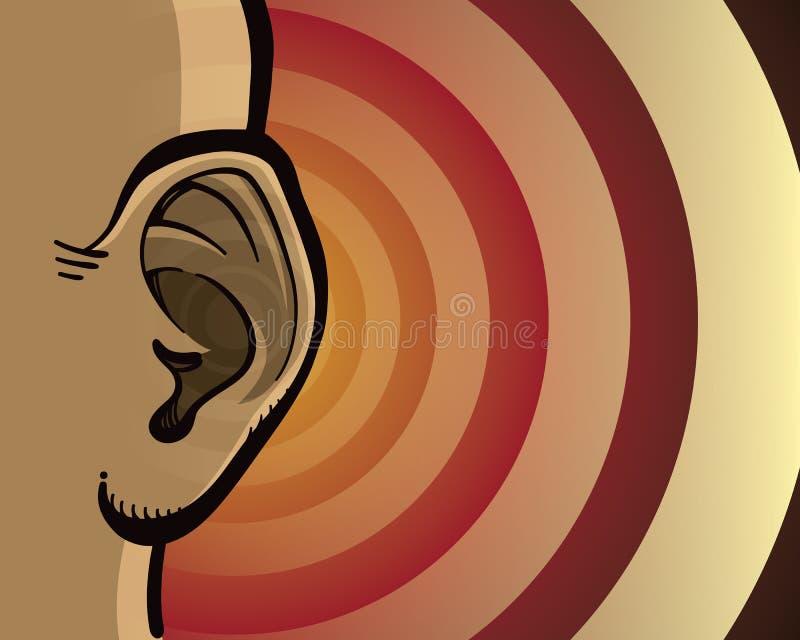 Lyssnande öra stock illustrationer