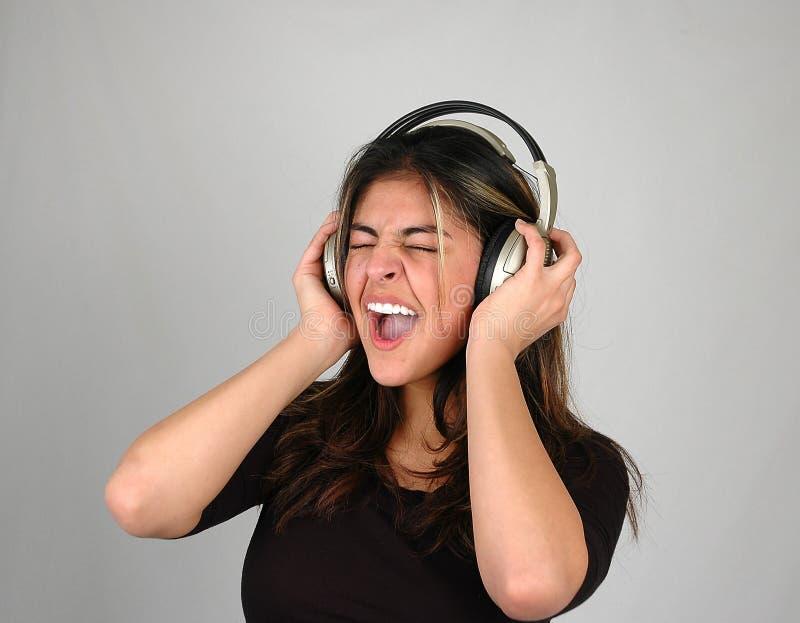 Lyssnande Musik 2 Till Arkivfoto