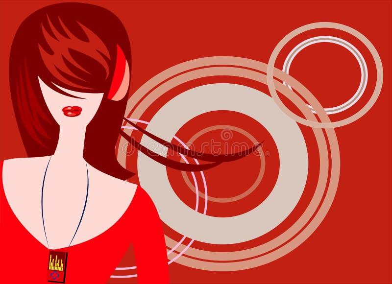 lyssnar musik royaltyfri illustrationer