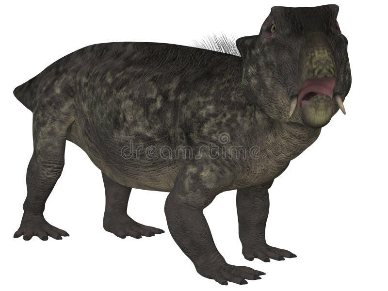 Lystrosaurus- 3D dinosaurie vektor illustrationer