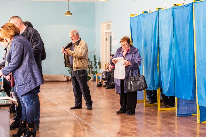 Lysychansk, Украина - избрание 03-31-2019 из президента Украины стоковое изображение