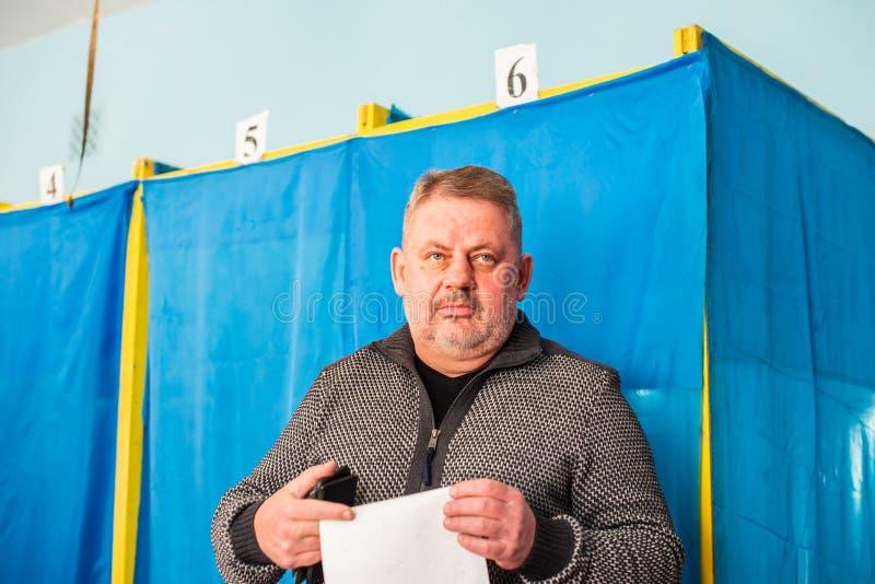Lysychansk, Украина - избрание 03-31-2019 из президента Украины стоковое фото