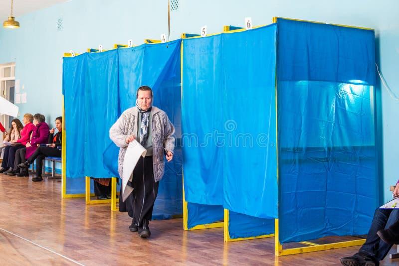 Lysychansk, Ucr?nia - elei??o 03-31-2019 do presidente de Ucr?nia imagem de stock