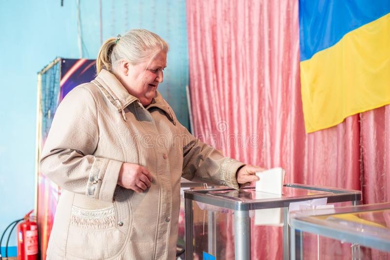 Lysychansk, Ucraina - elezione 03-31-2019 del presidente dell'Ucraina immagine stock