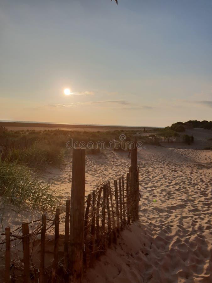 Lytham beach lancs stock photos
