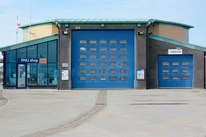 Lytham St Annes Lifeboat station. The lifeboat station at Lytham St annes, Lancashire stock photography