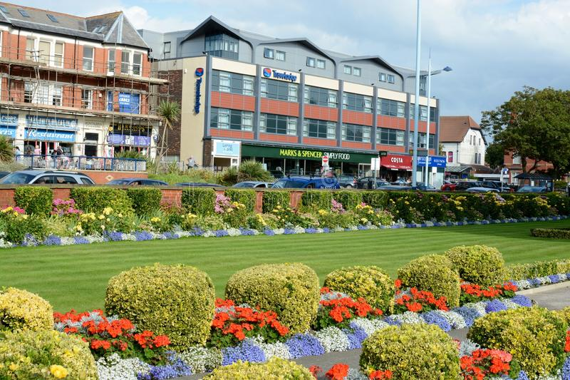 Lytham, St. Annes. The main shopping area and town centre at Lytham St. Annes, Lancashire, UK stock images