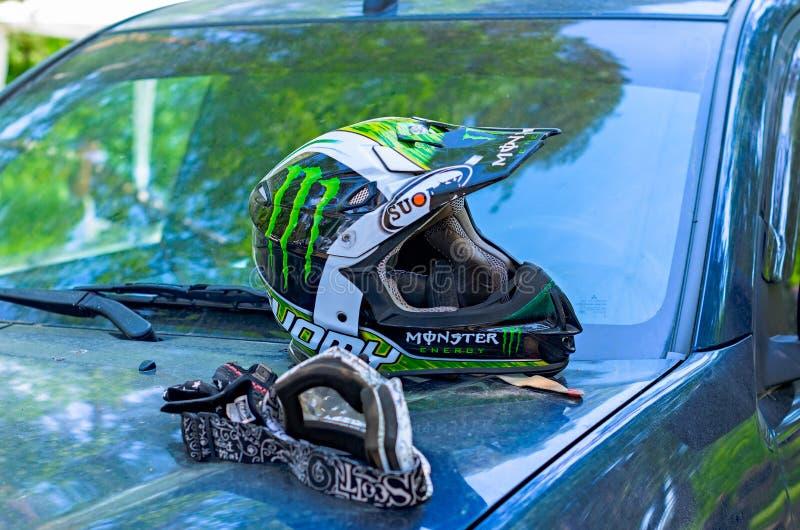 LYTKARINO, RÉGION de MOSCOU, RUSSIE - 18 mai 2013 : tasse MOIS de motocross images stock
