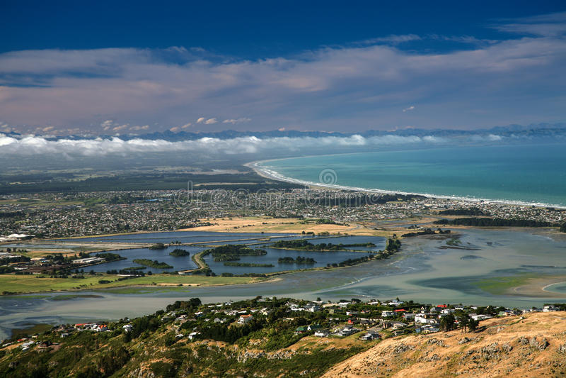 Lyttelton, Canterbury, Nieuw Zeeland royalty-vrije stock foto