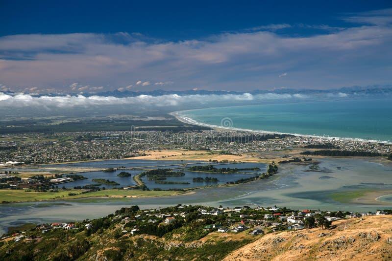 Lyttelton, Canterbury, Nuova Zelanda fotografia stock libera da diritti