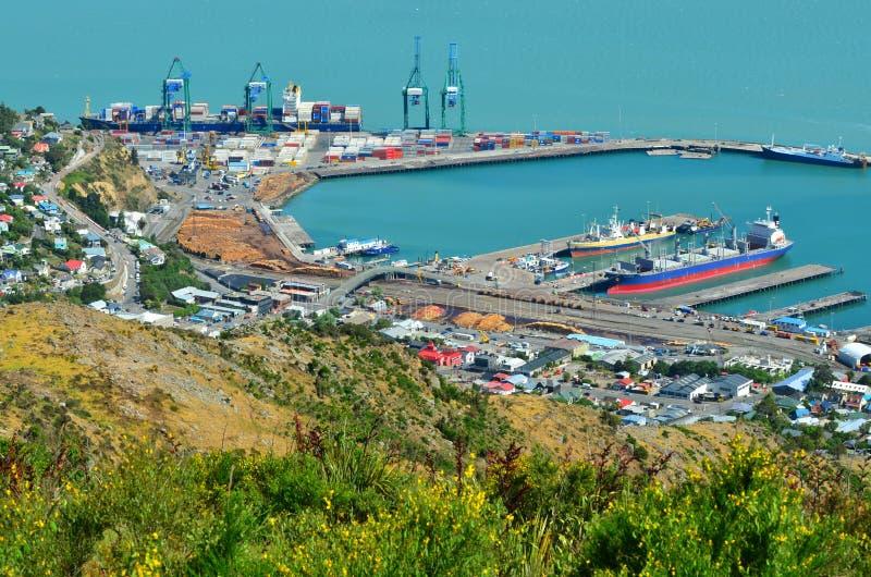 Lytteltonhaven van Christchurch - Nieuw Zeeland stock afbeelding