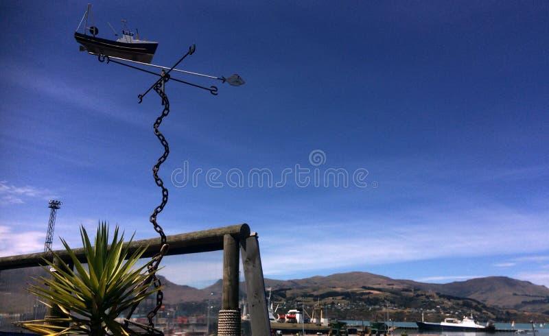 Lytteltonhaven van Christchurch - Nieuw Zeeland royalty-vrije stock foto