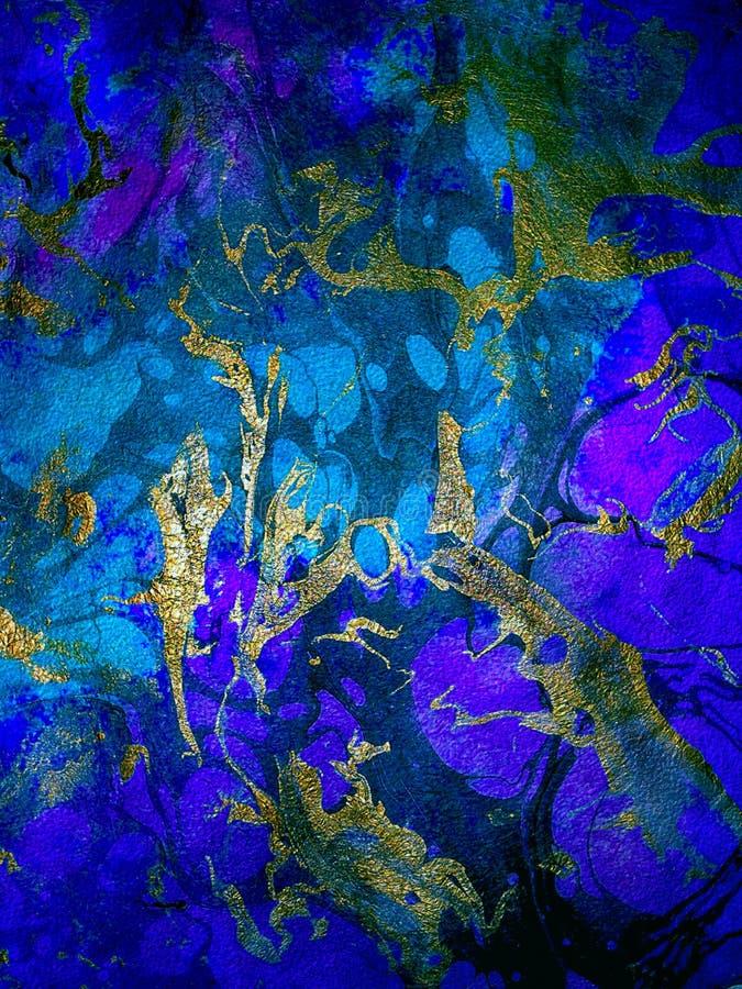 Lyx blåa Violet Abstract Bright Texture, bakgrund royaltyfri illustrationer