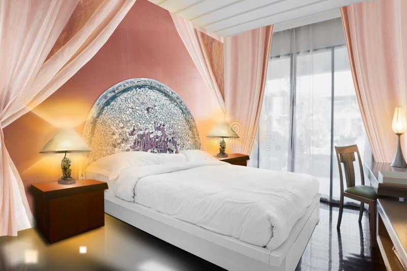 lyx för sovrumdesigninterior vektor illustrationer