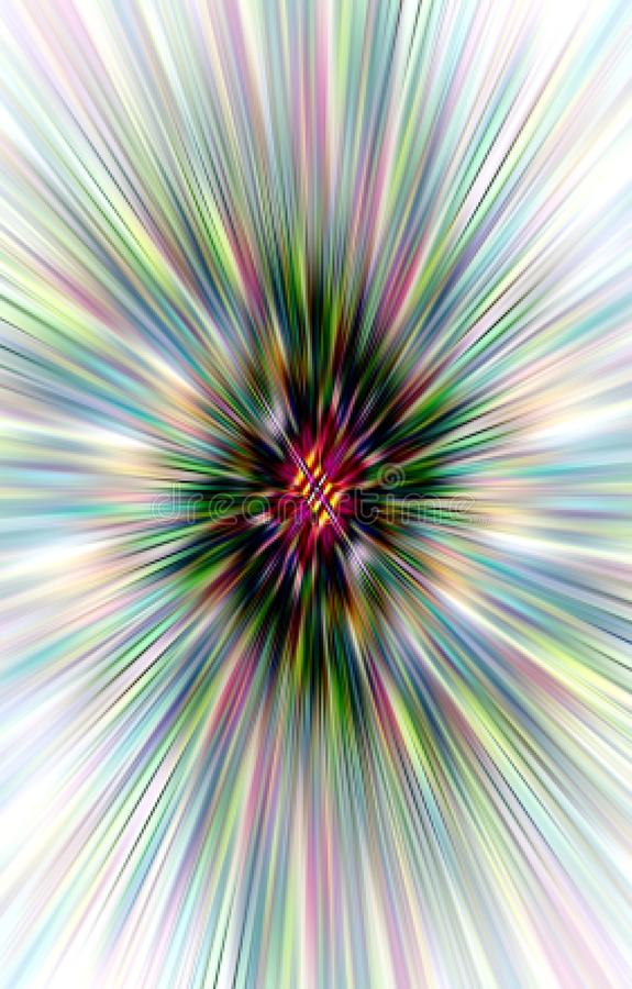 lyxig bakgrund Härlig spiral av remsor och fläckar vektor illustrationer