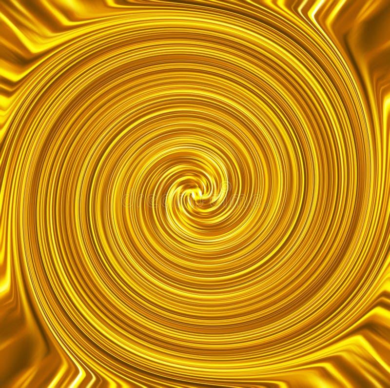 Lyxig banerbakgrund för guld- virvel arkivfoton