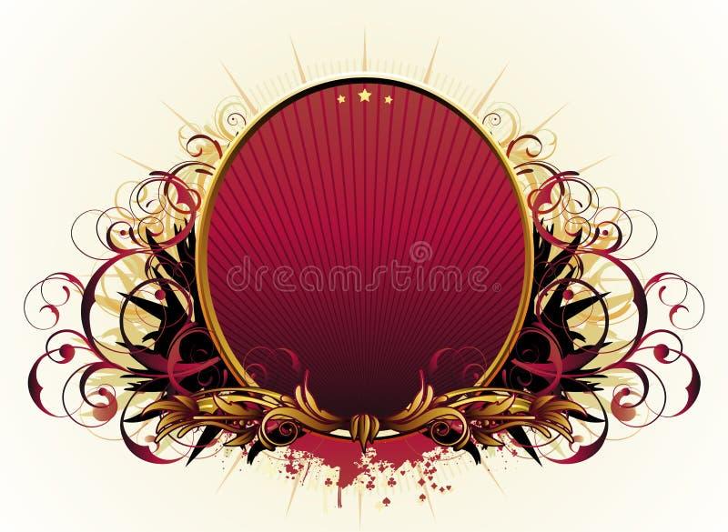 Lyxig blom- ram royaltyfri illustrationer