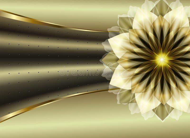 lyxig blomma stock illustrationer