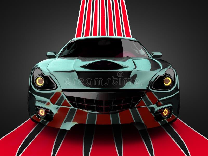 Lyxig brandless sportbil stock illustrationer
