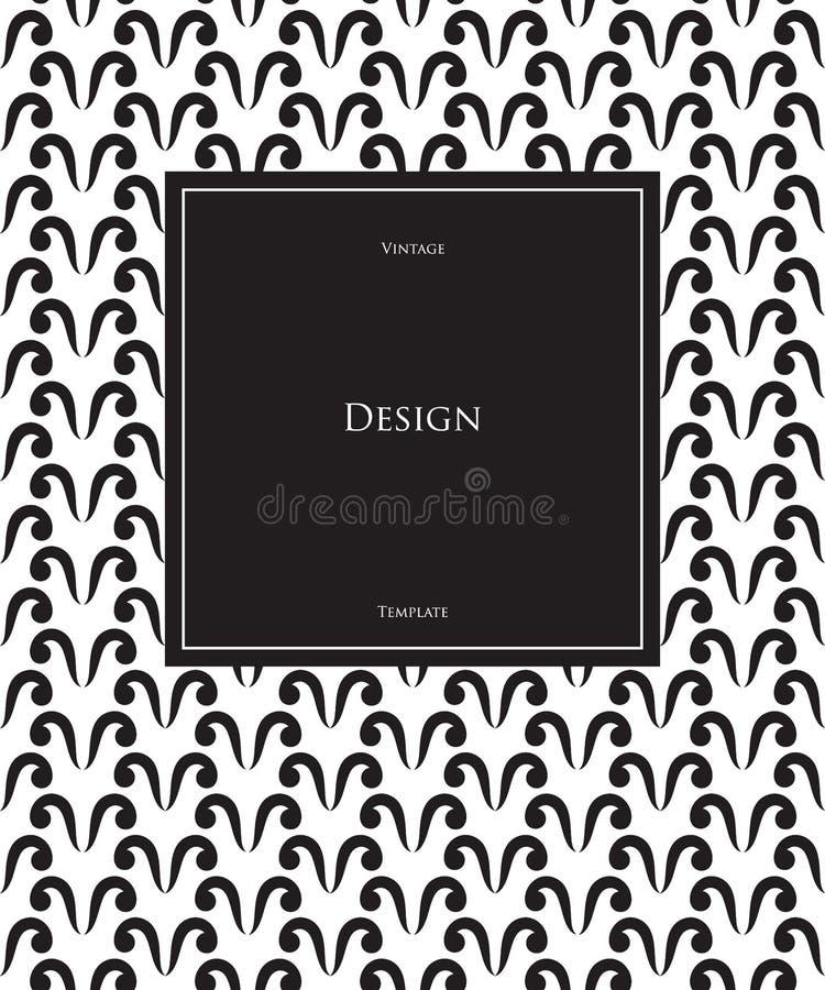 Lyxig broschyrdesign i svartvitt, h?gv?rdig broschyr, reklambladmall, modeorienteringsmall stock illustrationer