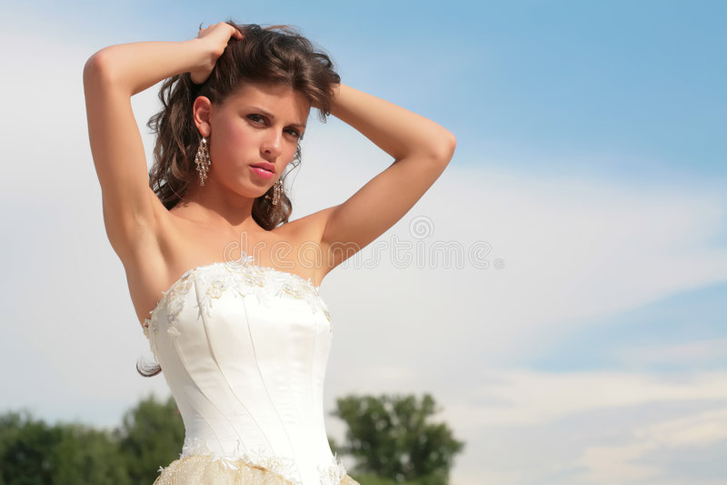 lyxig brunett royaltyfria bilder