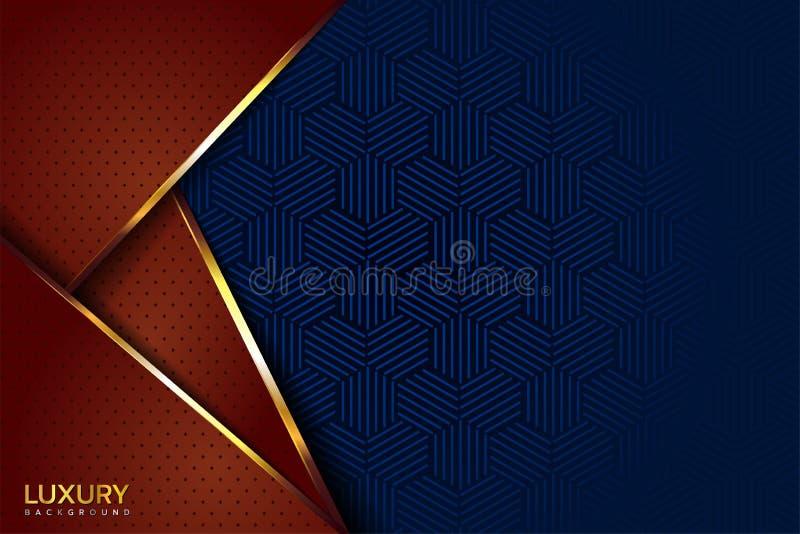 Lyxig brunt och elegant bakgrund för blå tappning vektor illustrationer