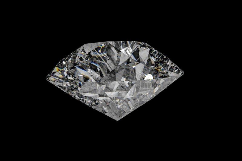 lyxig diamantädelsten, tolkning 3d royaltyfria bilder
