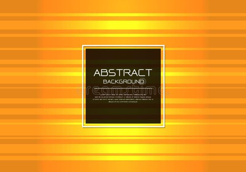 Lyxig guld- linje hastighetsljus för abstrakt vektor med modern bakgrund för fyrkantig för rammall för baner vit design vektor illustrationer