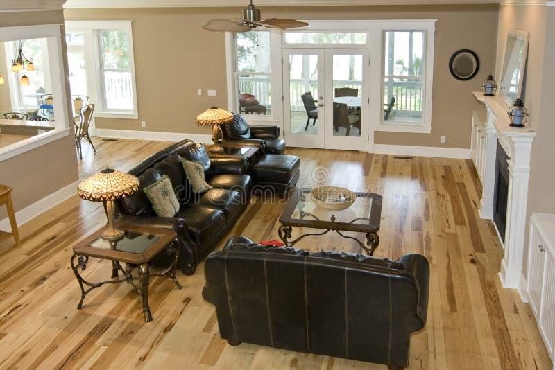 lyxig livingroom royaltyfria foton