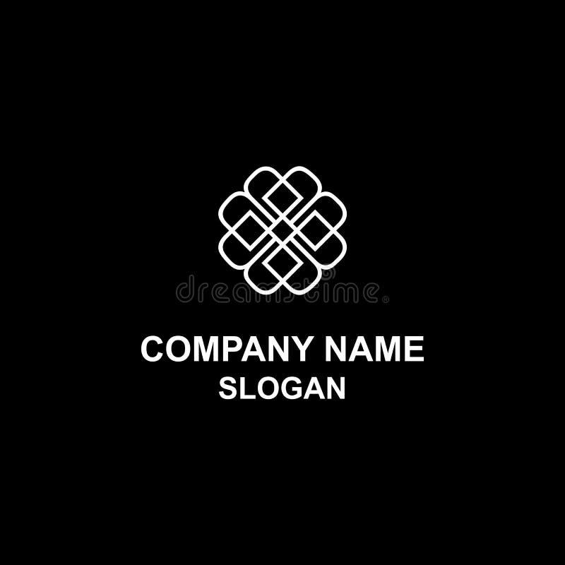 Lyxig logo för b-bokstavsinitial royaltyfri illustrationer