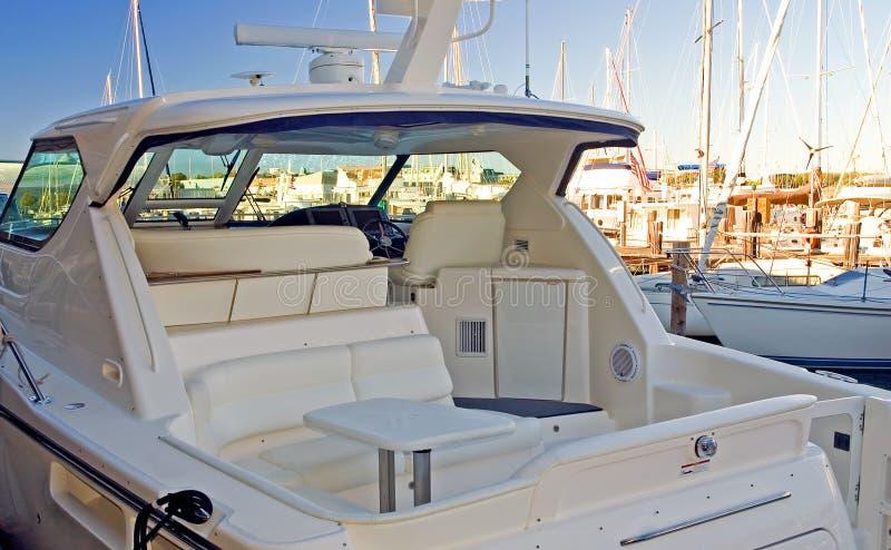 lyxig privat yacht arkivfoto