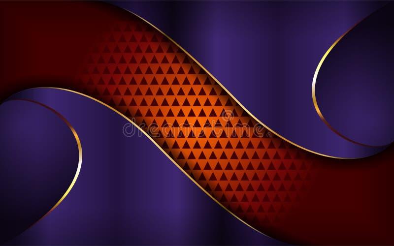 Lyxig purpurf?rgad och orange bakgrund vektor illustrationer