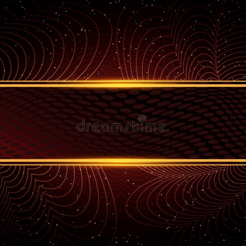 Lyxig r?d och guld- bakgrund Design f?r presentationen, konsert, show royaltyfri fotografi