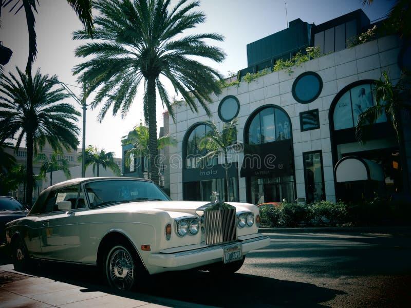 Lyxig Rolls Royce bil arkivbild