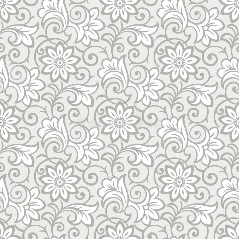 Lyxig sömlös blom- tapet vektor illustrationer
