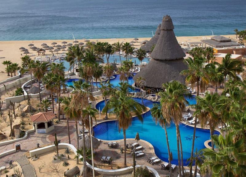 Lyxig semesterort i Cabo San Lucas arkivbild