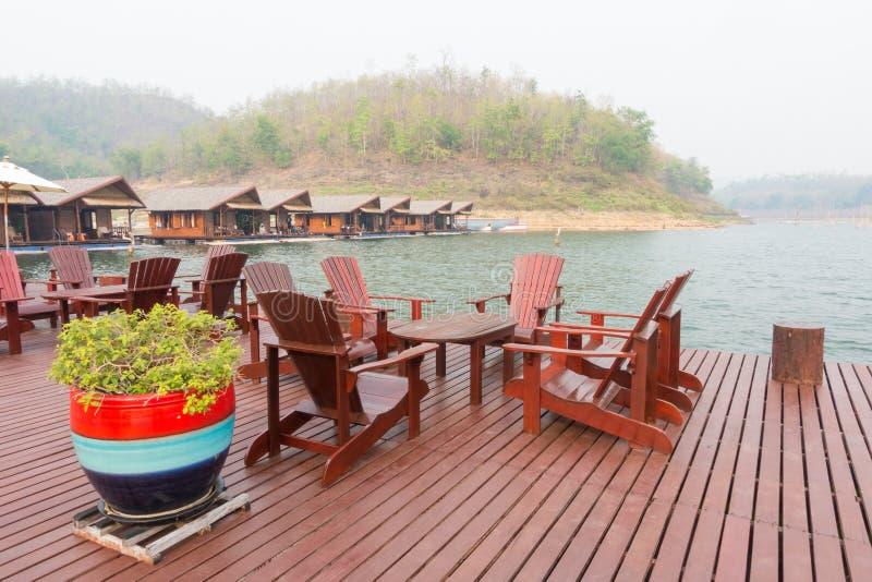 Lyxig semesterort i den stora sjön royaltyfria foton