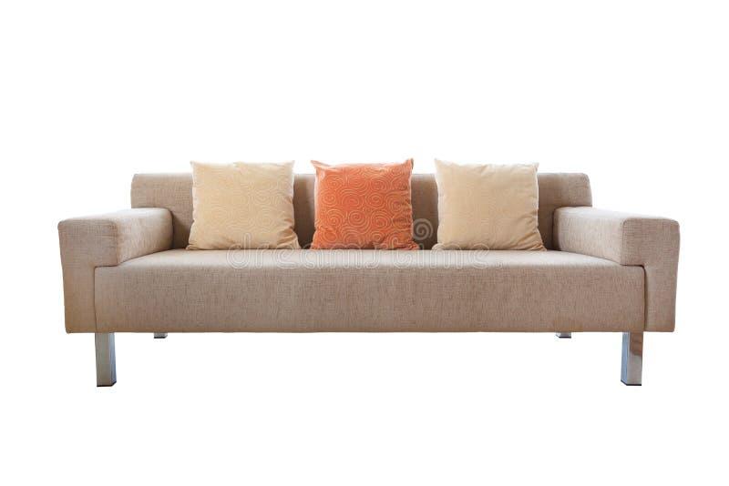 Lyxig soffa som isoleras på vit bakgrund royaltyfria bilder
