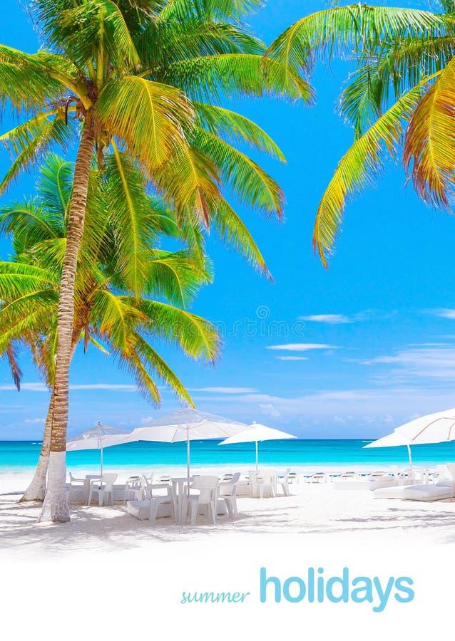 Lyxig strandsemesterort arkivbild