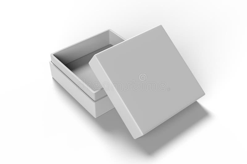 Lyxig styv halsask för vitt mellanrum med inre lura för att brännmärka upp presentation och åtlöje, illustration 3d royaltyfri illustrationer